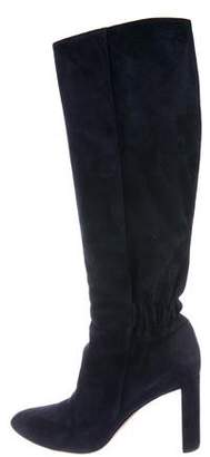 Christian Dior Suede Knee-High Boots