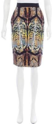 Barbara Bui Printed Knee-Length Skirt w/ Tags