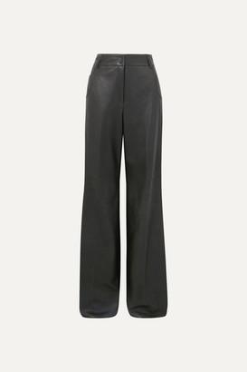 Akris Wide-leg Leather Pants - Green