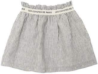 Les Coyotes De Paris Striped Linen Skirt