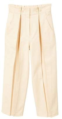 MANGO Pleat detail cotton trousers