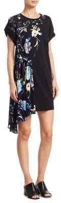 3.1 Phillip Lim Floral Silk Tee Dress