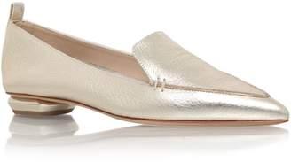 Nicholas Kirkwood Metallic Leather Pointy Slippers