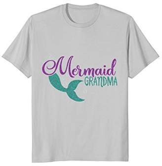 Mermaid Grandma Mermaid Glitter Party T Shirts for Women