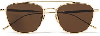 Sunday Somewhere - Romeo Aviator-style Gold-tone Sunglasses
