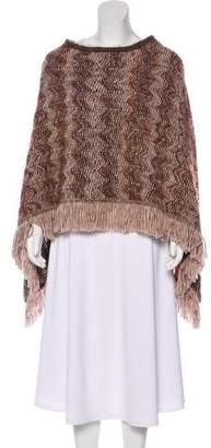 Missoni Patterned Fringe-Trimmed Poncho