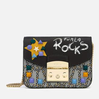 Furla Women's Metropolis Message Mini Cross Body Bag - Black