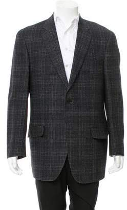 Etro Wool-Blend Glen Plaid Blazer