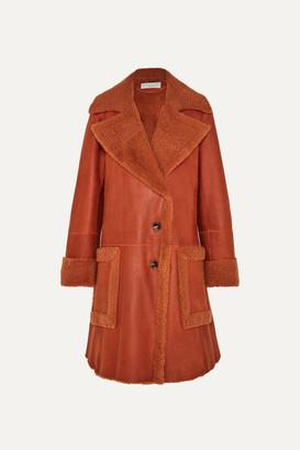 Chloé Shearling Coat - Orange