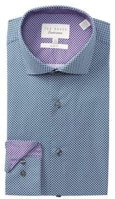 Ted Baker Geo Print Trim Fit Dress Shirt