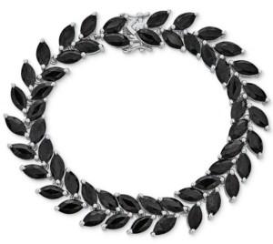 Macy's Sapphire Vine-Inspired Fancy Bracelet (30 ct. t.w.) in Sterling Silver