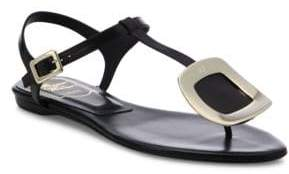 Roger Vivier Leather Chips Thong Sandals