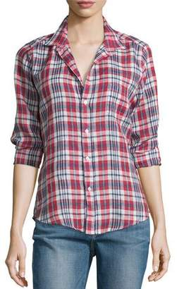 Frank And Eileen Barry Plaid Linen Long-Sleeve Shirt