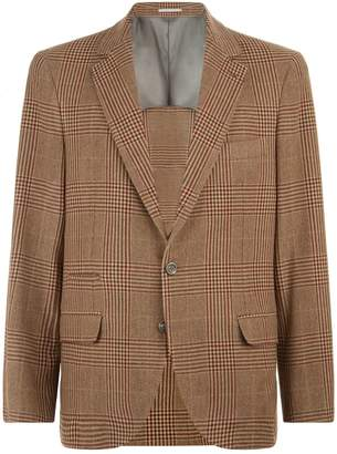 Brunello Cucinelli Check Blazer
