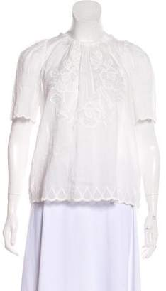 Isabel Marant Embroidered Short Sleeve Top w/ Tags