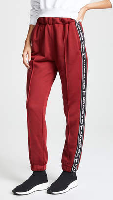 Alexander Wang Pull On Track Pants with Logo Tape