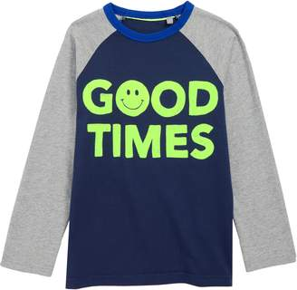 Boden Mini Slogan Raglan T-Shirt