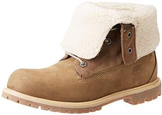 Timberland Womens Authentics Teddy Fleece Water Proof Fold Down Boots C8330R,(37.5 EU)