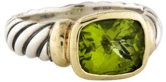 David Yurman Two-Tone Peridot Noblesse Cocktail Ring