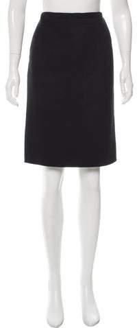 Michael Kors Wool And Angora-Blend Skirt