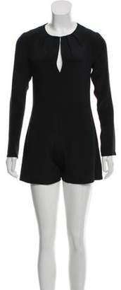 Alexis Silk Long Sleeve Romper Black Silk Long Sleeve Romper