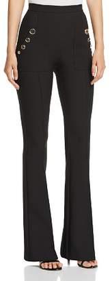 Elisabetta Franchi Button-Front Flared Pants