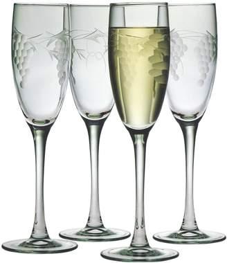 Susquehanna Glass Co. Sonoma Champagne Flute Glasses (Set of 4)