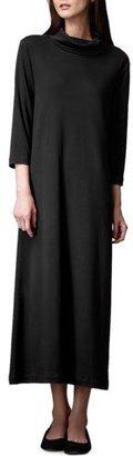 Joan Vass Turtleneck Maxi Dress, Black $208 thestylecure.com