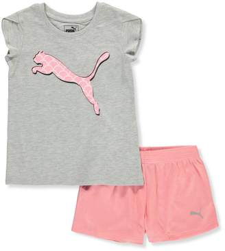 Puma Little Girls' 2-Piece Short Set Outfit