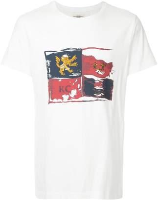 Kent & Curwen distressed flag print T-shirt
