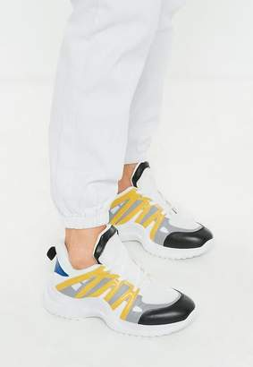 Missguided Yellow Arched Color Detail Sneakers
