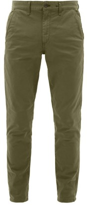 Rag & Bone Slim Fit Cotton Blend Chino Trousers - Mens - Khaki