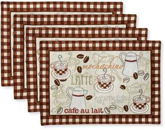 Better Homes & Gardens Better Homes and Gardens Placemats, Set of 4, Coffee Tapestry