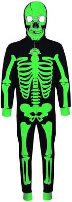 A2Z 4 Kids® Kids Girls Boys Skeleton Print A2Z Onesie One Piece Halloween Costume 5-13 Year