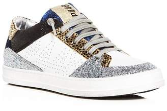 Golden Goose P448 Women's Queens Mixed Media Lace Up Sneakers