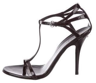 Gucci Patent T-Strap Sandals
