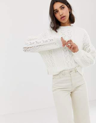 Asos (エイソス) - Asos Design ASOS DESIGN open stitch sweater in fluffy yarn