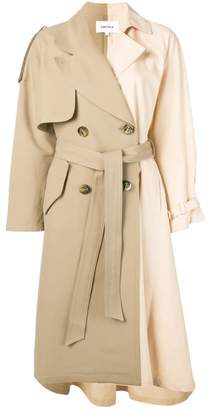 Enfold asymmetric trench coat