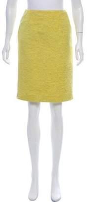 Christian Dior Textured Pencil Skirt