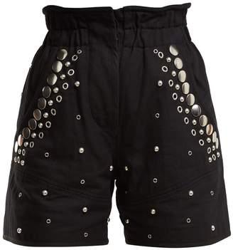Isabel Marant Esytis stud-embellished cotton shorts