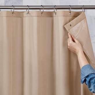 At Walmart Better Homes Gardens And 100 Percent Waterproof Fabric Shower Curtain Liner