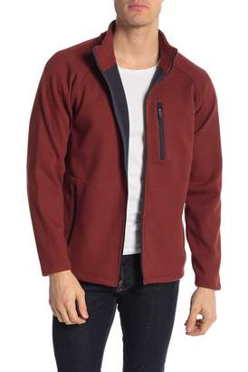 Tailor Vintage Full Zip Waffle Knit Fleece Jacket