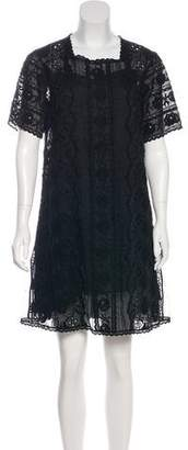 Marc Jacobs Silk Embroidered Dress