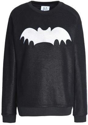 Zoe Karssen Appliquéd French Cotton-Terry Sweatshirt