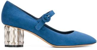 Salvatore Ferragamo block-heel mary jane pumps