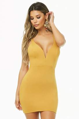 Forever 21 Crisscross-Back Bodycon Dress