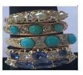 Fashion Concierge Vip Turquoise and Diamonds 18K Gold