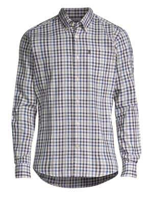 Barbour Men's Core Essentials Stapleton Button-Down Shirt - Grey - Size Small