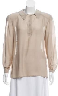Giorgio Armani Structured Silk Top Structured Silk Top