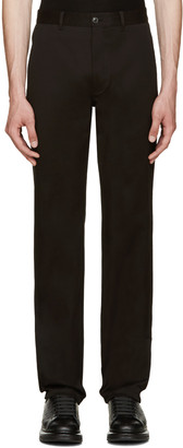 Versace Black Slim Trousers $645 thestylecure.com